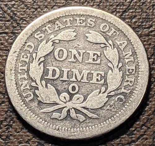 1852-0 FINE SEATED LIBERTY DIME