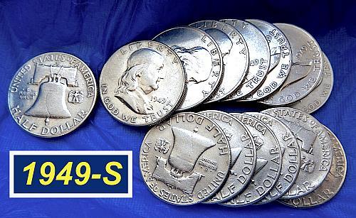1949-S Franklin ⭐️ Only 3.7 Million Minted ⭐ Nice Design Details  (r8466)