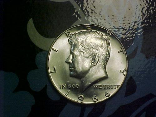 1966 KENNEDY HALF DOLLAR            an67