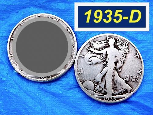 "1935-D Walking Liberty Half  ⭐️  ""VF"" Condition   ⭐️  (1134RR)"
