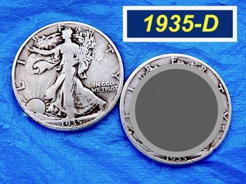 "1935-D Walking Liberty Half  ⭐️  ""VF"" Condition   ⭐️  (1134LL)"
