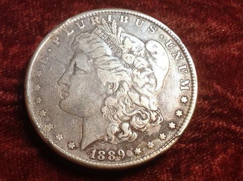 1889 P Morgan Silver Dollar