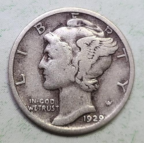 1929-D Mercury Dime Fine-12