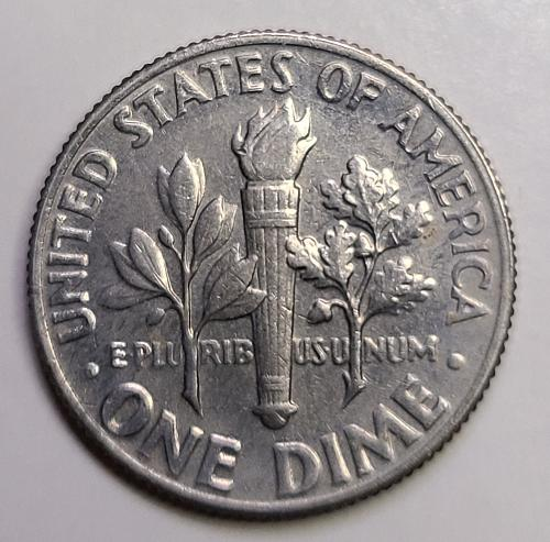 1970 Reverse of 1968 Roosevelt Dime Extra Fine-45