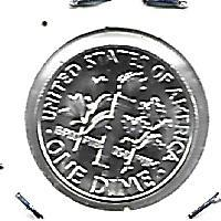 1964  SILVER  PROOF ROOSEVELT DIME
