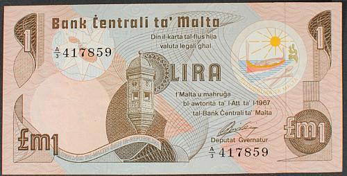 Malta P34a Pound VF