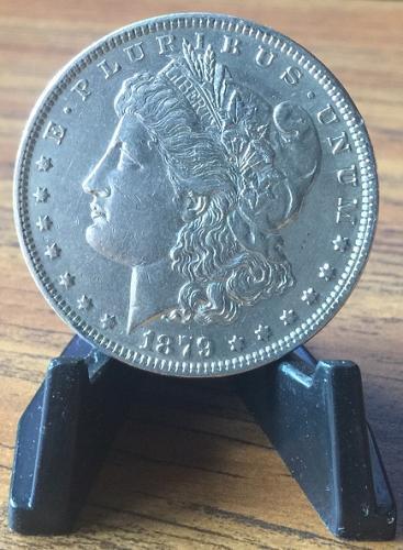 1879-P AU Silver Morgan Dollar SMART INVESTMENT