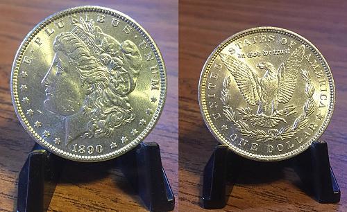 1890-P AU Silver Morgan Dollar SMART INVESTMENT