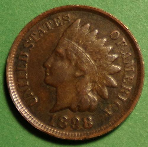 1898 P Indian Head Cent