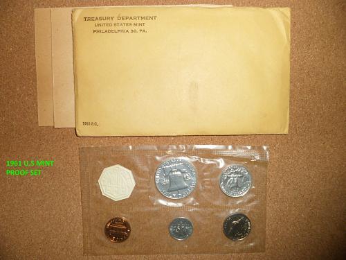 1961 PROOF SET  &  1961 P-D UNCIRCULATED MINT SET -- BOTH FOR SALE