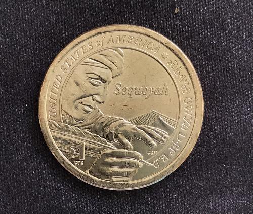 2017 P BU Native American Dollar--Sequoyah (0411-7)