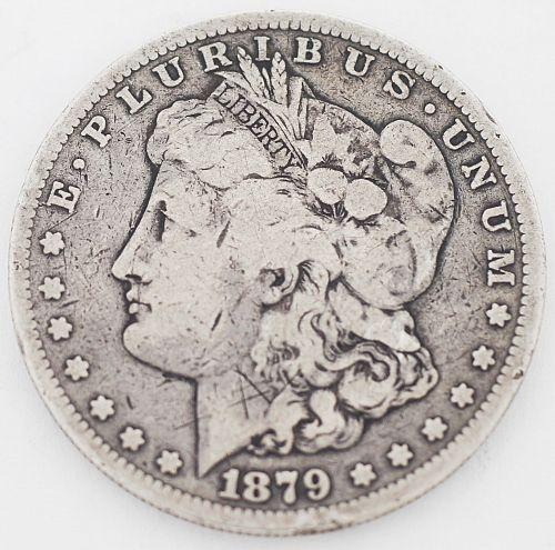 1879-s Morgan silver dollar coin