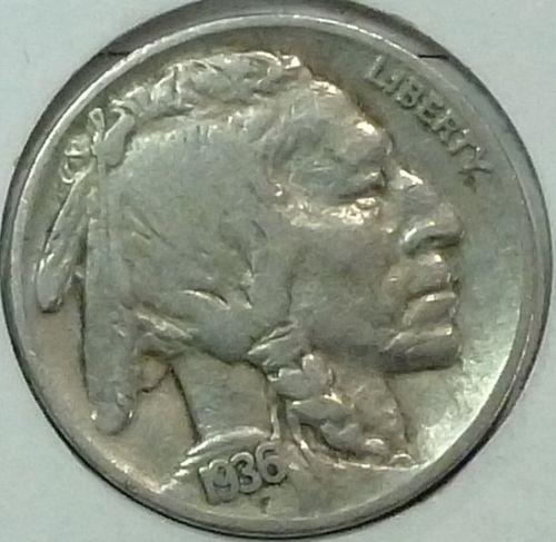 1936-S Extra Fine Grade Buffalo Nickel  ( 4462 )