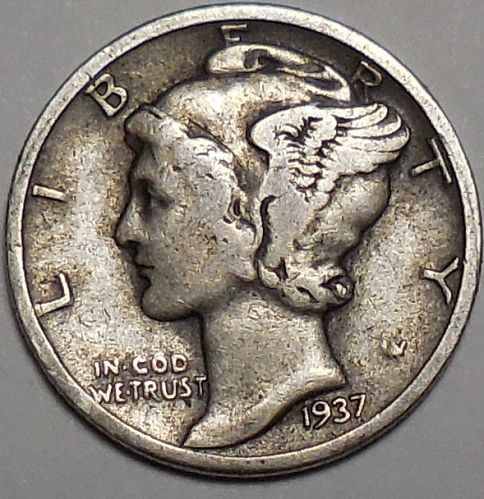 1937-P Mercury Dime