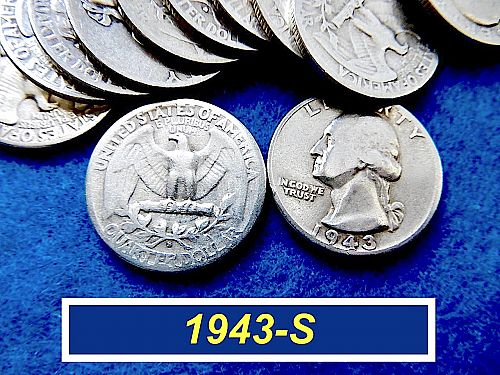 1943-S  SILVER Washington 25¢  ⭐️  Average Circulated  ⭐️  (R2752)