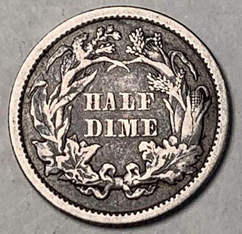 1860 Seated Liberty Half Dime F [SHD 16]
