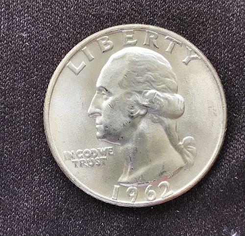 1962 D Uncirculated Washington Quarter --90% Silver (0414-16)