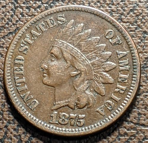 1875 VERY FINE INDIAN CENT