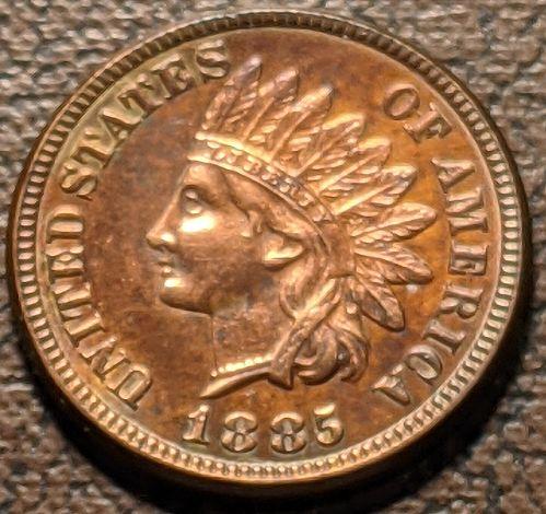 1885 CHOICE AU INDIAN CENT