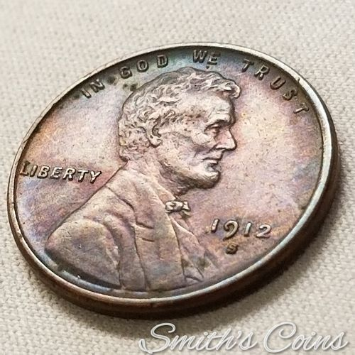 1912 S Lincoln Wheat Cent ~ XF