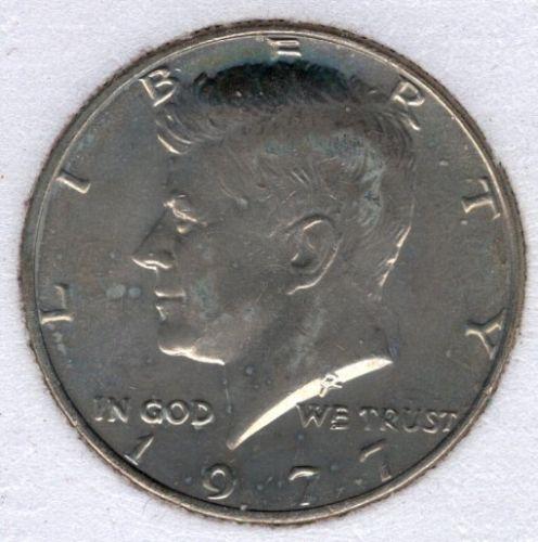 1977p Kennedy Half Dollar #4d1
