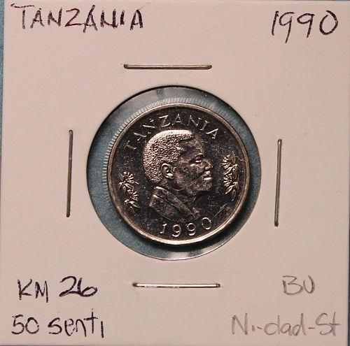 Tanzania 1990 50 senti