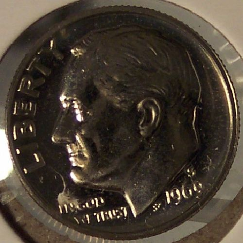 1969-S Cameo Proof Roosevelt Clad Dime #0528