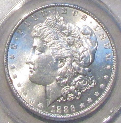 1886 Morgan Dollar  VAM-11  ANACS  AU-58