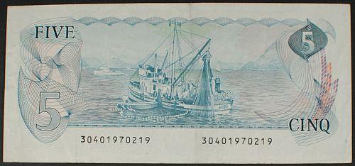 Canada P92a 5 Dollars VF