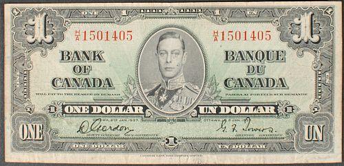 Canada P58b Dollar Fine+