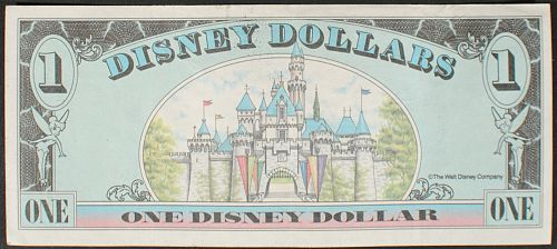1990 Disney Dollar VF