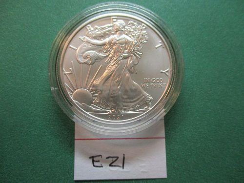 2021  American Silver Eagle.  Item: E 21.