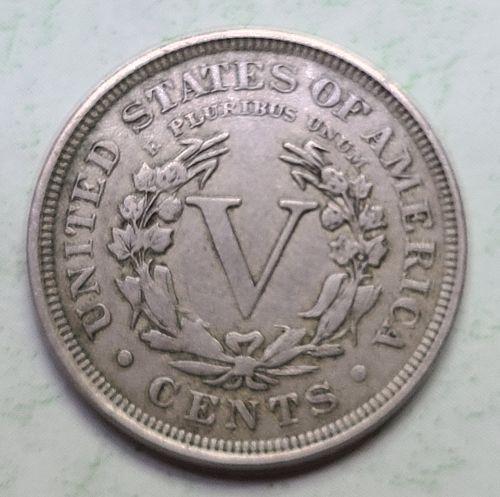 "1907 Liberty ""V"" Nickel Very Fine-25 Nice Light Nickel Grey Patina!"