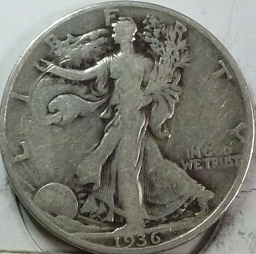 1936-D Very Fine Walking Liberty Half Dollar  ( 417-F )