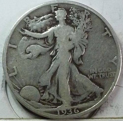 1936-S Fine Walking Liberty Half Dollar  (417-E )
