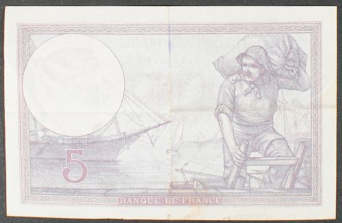 France P72c 5 Francs VF++
