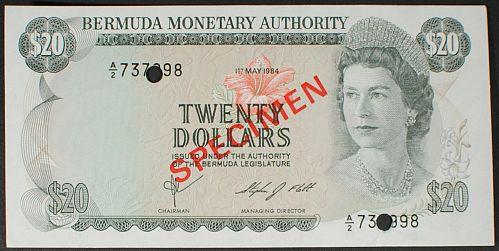 Bermuda P31s 20 Dollars AU