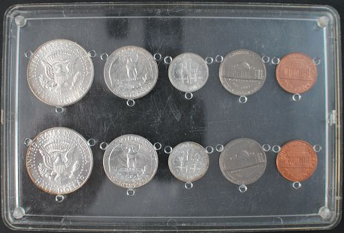 1964 and 1964D UNC Sets in holder