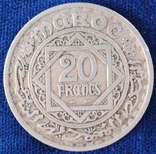 AH1366 Morocco 20 Francs XF