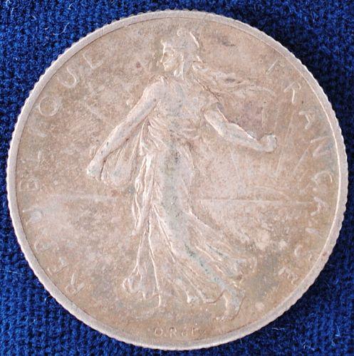 1908 France 2 Francs XF
