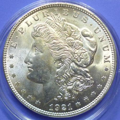 US USA United States of America Morgan Dollar 1921 P Km 110 Silver
