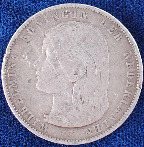 1897 Netherlands Gulden Fine+
