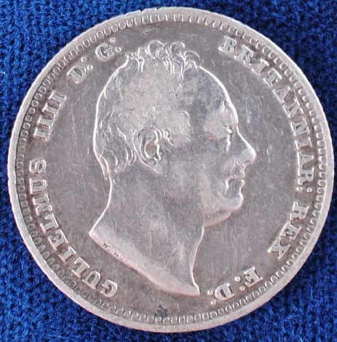 1834 Great Britain Shilling F-VF Details