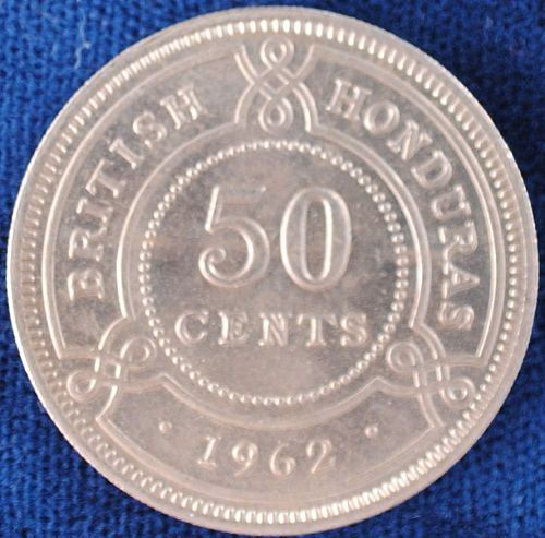 1962 British Honduras 50 Cents BU