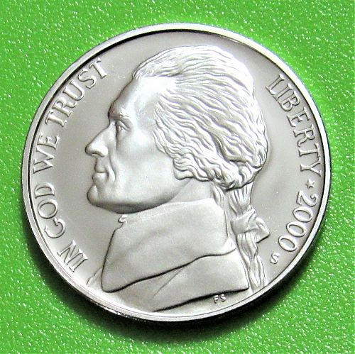 2000-S 5 Cents - Jefferson Nickel - Cameo Proof
