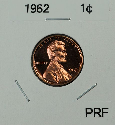 1962 Lincoln Memorial Cent >Proof-Cameo<