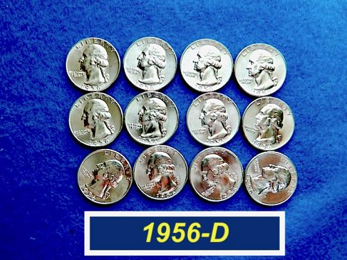 "1956-D  ""BU"" Silver Quarter ⭐️☆ Lustrous Coin -- MS-63   ⭐️ (2894a)"