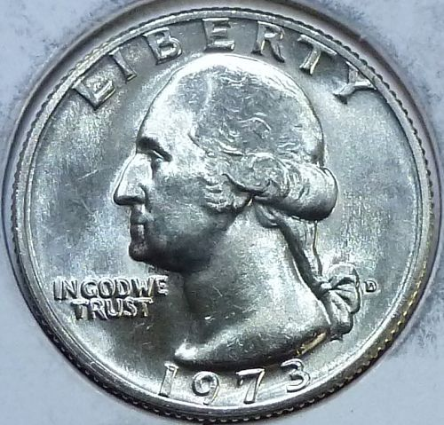 1973-D Proof Like Brilliant Uncirculated Washington Quarter # 121