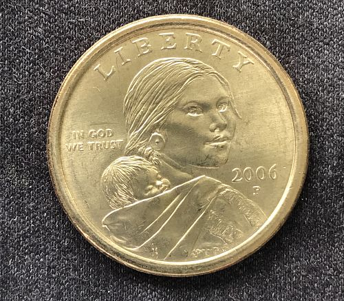 2006 P Native American & Sacagawea Dollar--From UNC Roll (0418-8)