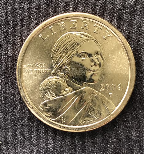 2004 P Native American & Sacagawea Dollar--From UNC Roll (0418-13)